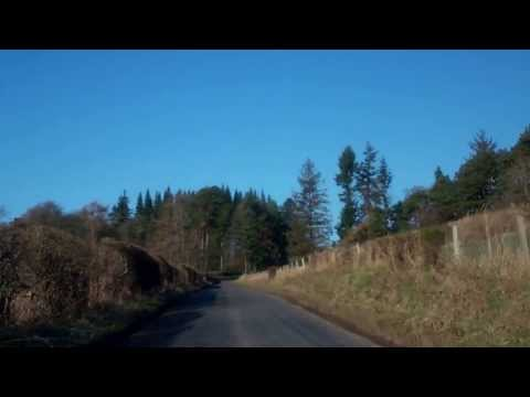 February Morning Drive To Upper Rhynd Perthshire Scotland