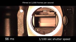 Slow motion camera shutter - Canon 5D 2,000 fps