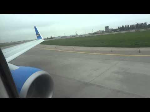 Aerosvit landing in Boryspil, Kyiv, Ukraine