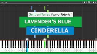"""Cinderella (2015)  - """"Lavender's Blue"""" - Piano Tutorial HD"""
