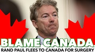 Rand Paul Flees To Canada For Health Care width=