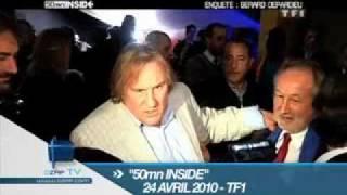 Depardieu traite une journaliste de salope