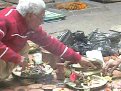Offering in Kathmandu