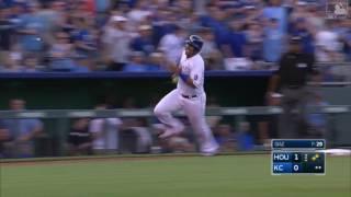 Los Reales le volvieron a poner freno a Astros guiados por Cuthbert  MLB com
