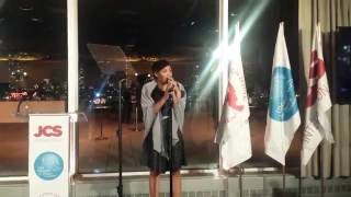 Jayna Brown performs at UN