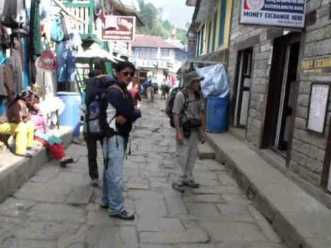 Everest Trek –  The streets of Lukula