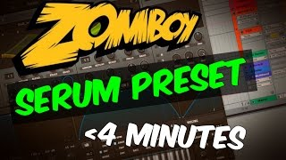 Make Wild ZOMBOY - Invaders Style Bass In Serum In 4 Minutes (+ FREE Preset)