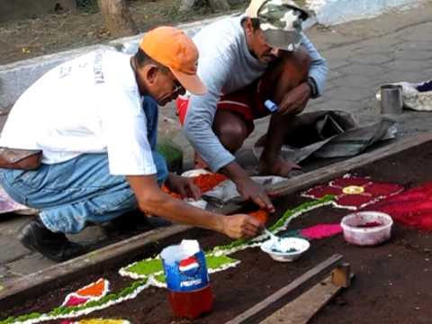 Leon Nicaragua Easter Carpet