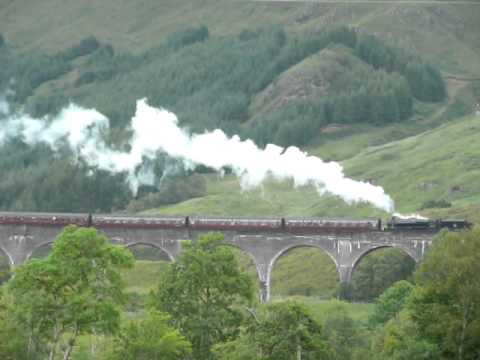 Harry Potter : Glenfinnan viaduct destination Hogwarts