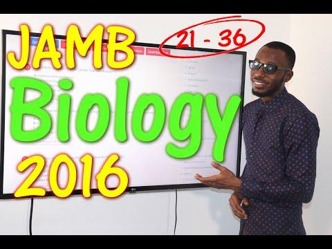 JAMB CBT Biology 2016 Past Questions 21 - 36