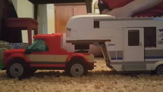 Lego camper on the move