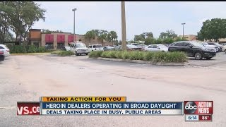 Drug dealers use busy parking lots for sales