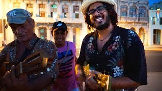 "Cubans and Americans jamming out to ""La Bamba"" in Havana Cuba"