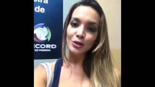 lidia barbieri do Melhor do Brasil da TV Record dia 18 de maio em lins