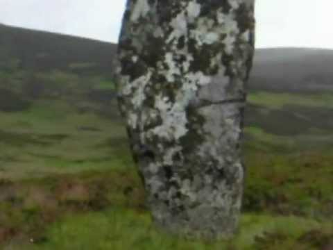 Standing Stone-Glen Loth in Sutherland,Scotland(Clach Mhic Mhios)