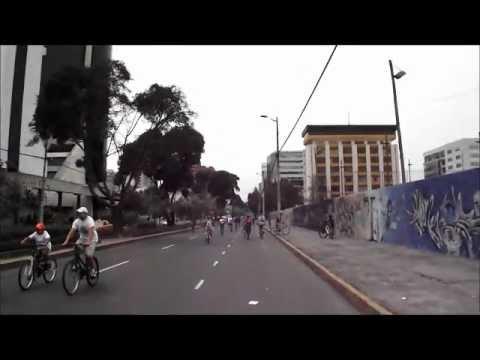 Bike Riding in Quito Ecuador on a Sunday
