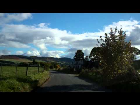 Autumn Drive To Dalguise Perthshire Scotland October 20th