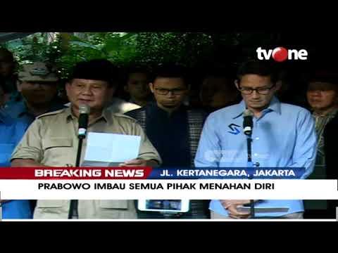Download Video [BREAKING NEWS] Prabowo Imbau Semua Pihak Menahan Diri & Mendukung Jalur Konstitusional