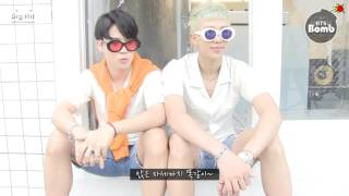 [BANGTAN BOMB] BTS (방탄소년단) Moni & Mini wearing twin-look