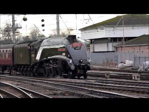 60009 Union of South Africa arriving at Carlisle on 16th February 2013 with WCME.wmv