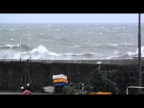 Slightly rough sea at St Monans, Fife.