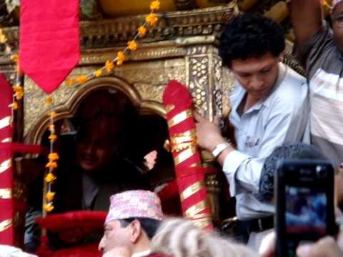 Vehicle of the Living Goddess, Indra Jatra Festival, Kathmandu