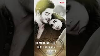 Zero    Mere Naam Tu Full screen Whatsapp status video    Dila Da Sathi