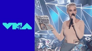 Katy Perry's Out of This World Entrance | 2017 VMAs | MTV