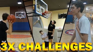 3X BASKETBALL CHALLENGES VS LOSTNUNBOUND!