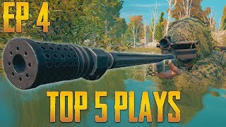 PUBG Top 5 Plays Episode 4 | PlayerUnknown's Battlegrounds Top Plays
