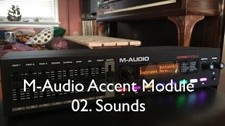 M-Audio Accent Module - Sounds