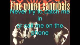 Fine Young Cannibals   Funny How Love Is with lyrics