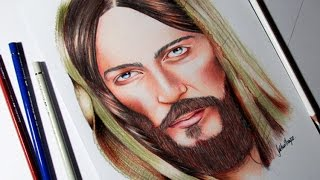 DESENHANDO JESUS CRISTO (speed drawing Jesus Christ)