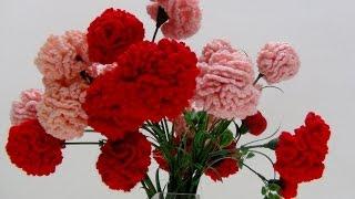 Flores de crochet - Claveles y Rosas de Pitiminí de ganchillo hechas por mi abuela