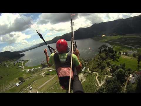 Paragliding above Phewa Lake, Nepal (Landing) Sep 2011