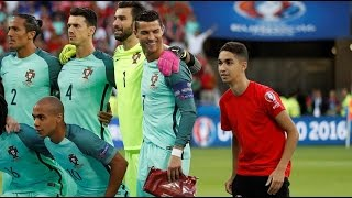 Portugal Vs Wales 2-0 - Ball Boy Poses With Cristiano Ronaldo● Euro 2016