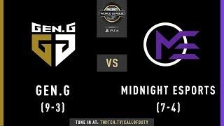 Gen.G vs Midnight Esports | CWL Pro League 2019 | Division A | Week 7 | Day 2