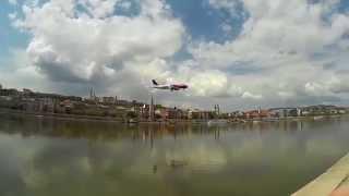 Airbus 320 Budapest Duna :D