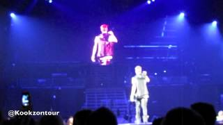 LIVE Justin Bieber talks to crowd and shows his abs in Detroit- 11/21/2012