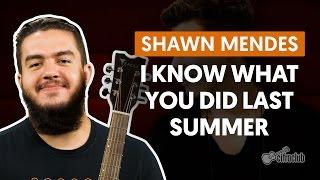 Videoaula I Know What You Did Last Summer (aula de violão completa)