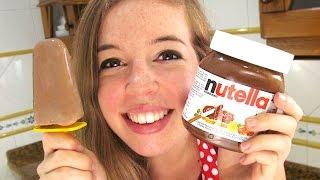 Helado de Nutella | Polos | Paletas muy fácil!