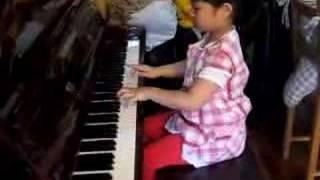 Mathea piano practice 2