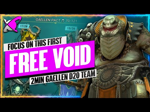 "GET THE ""FREE VOID"" FIRST !! | 2 MIN Gaellen Pact D20 Team & Champion Builds | RAID: Shadow Legends"