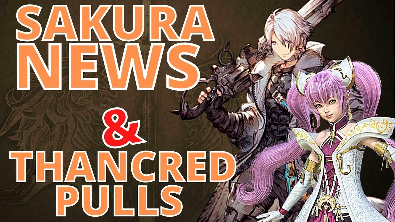 DegenTP - WOTV | News | Sakura and Ahlim plus FFXIV Pulls for Thancred! | War of the Visions FFBE