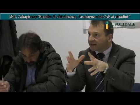 Video: MCL Caltagirone, reddito di cittadinanza