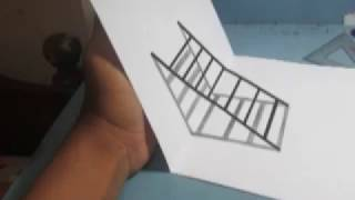 How to Draw 3D Stairs  - Pencil Art