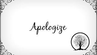 One Republic - Apologize (Lyrics)