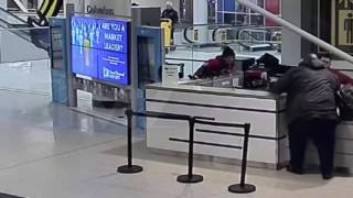 Faizon Love Attack Airport Worker (SURVEILLANCE VIDEO)