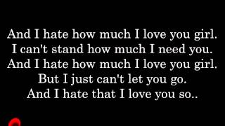 Rihanna ft ne-yo hate that i love you lyrics