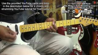 GET LUCKY Daft Punk Nile Rodgers Electric Guitar Strumming Cover Lesson Link EricBlackmonGuitar HD